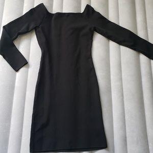 Ribbed Off the Shoulder Dress